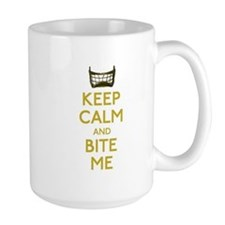 Keep Calm And Bite Me (net) Large Mugs