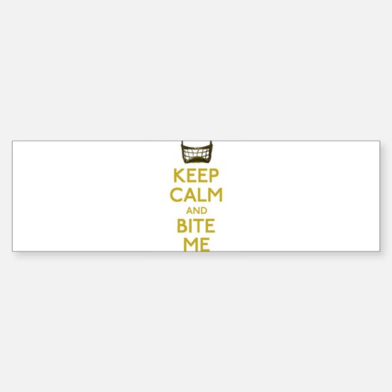 Keep Calm And Bite Me (net) Bumper Car Car Sticker