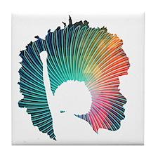 Radical Self-Expression Logo Tee Tile Coaster