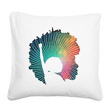 Radical Self-Expression Logo  Square Canvas Pillow