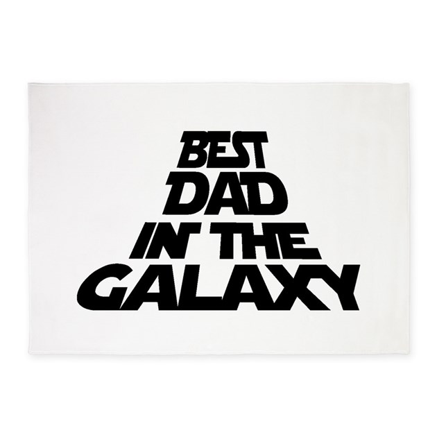 Best Dad In The Galaxy 5 X7 Area Rug By Vadergifts