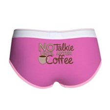 No Talkie Til Coffee Women's Boy Brief