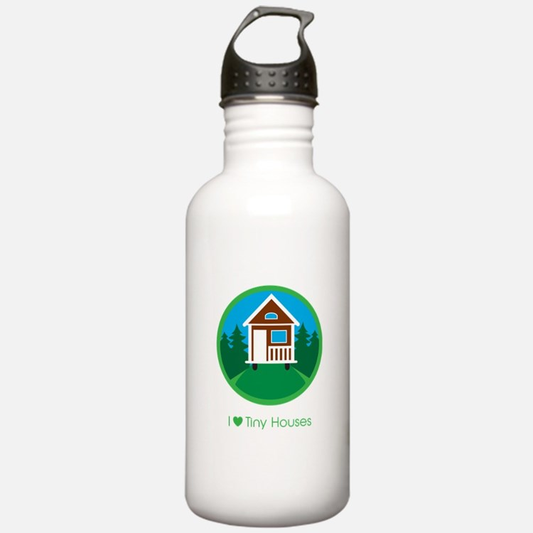 Ilovetinyhousesforests Stainless Water Bottle 1.0l