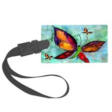 Butterfly Art Luggage Tag