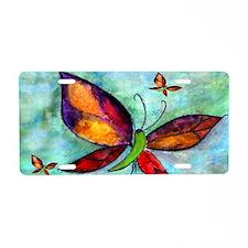 Butterfly Art Aluminum License Plate