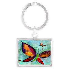 Butterfly Art Landscape Keychain
