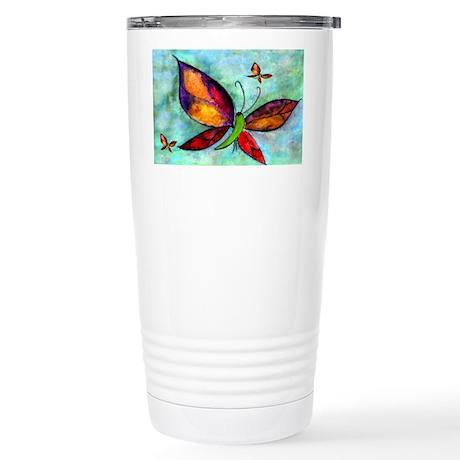 Butterfly Art Stainless Steel Travel Mug