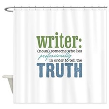 Writers Truth Shower Curtain