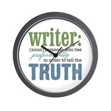 Writers Truth Wall Clock