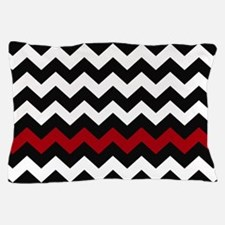 Black and Red Chevron Pillow Case