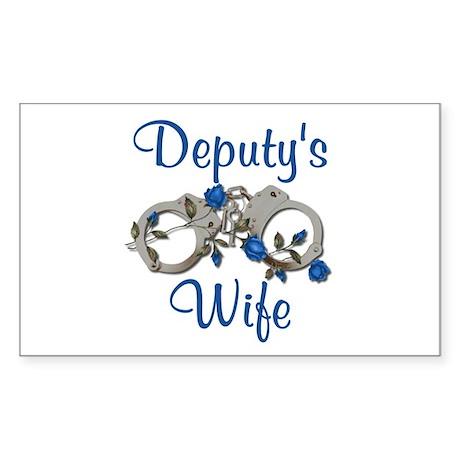 Deputy's Wife Rectangle Sticker