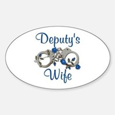 Deputy's Wife Oval Decal