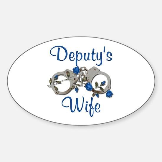 Deputy's Wife Oval Decal