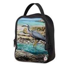 White Faced Heron Neoprene Lunch Bag