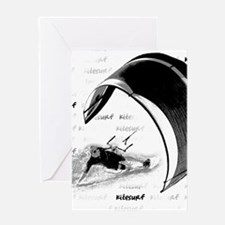 Kitesurf (Light) Greeting Cards