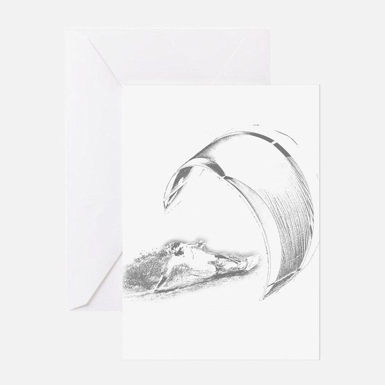 Kitesurf (Dark) Greeting Card