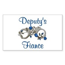 Deputy's Fiance Rectangle Decal