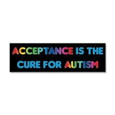 Autism Acceptance Car Magnet 10 X 3
