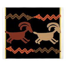 Tribal Goat and Snake Design King Duvet