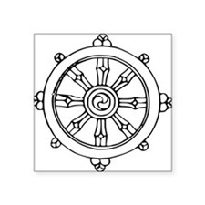 Dharma Wheel Rectangle Sticker