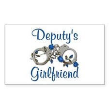 Deputy's Girlfriend Rectangle Decal