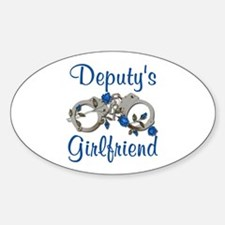 Deputy's Girlfriend Oval Decal