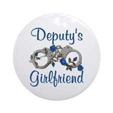 Deputy's Girlfriend Ornament (Round)