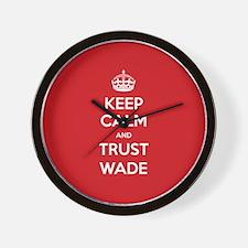 Trust Wade Wall Clock