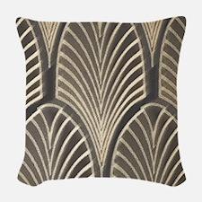 Art Deco Fan Geometric Woven Throw Pillow