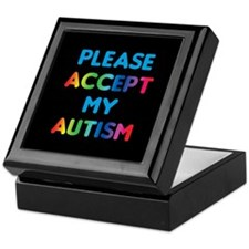 Accept Autism Keepsake Box