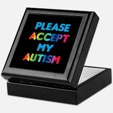 Accept Autism Keepsake Box