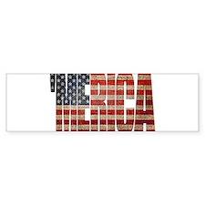 Vintage MERICA U.S. Flag Bumper Bumper Sticker