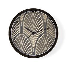 Art Deco Fan Geometric Wall Clock