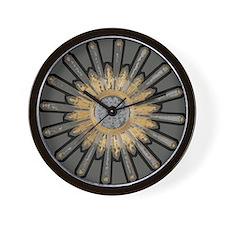 Art Deco Sunburst Wall Clock