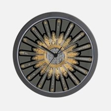Art Deco Sunburst Wall Clock