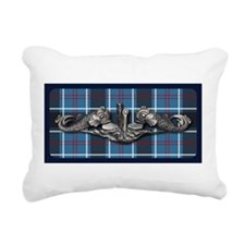 Submariner Tartan Rectangular Canvas Pillow