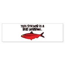 Red Herring sticker Bumper Bumper Sticker