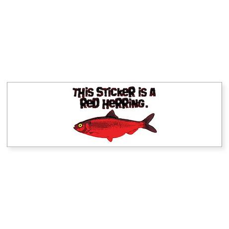 Red Herring sticker Bumper Sticker