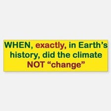When Exactly In Earths History Did Bumper Car Car Sticker