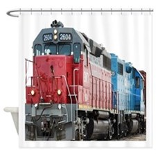 Train Duvet 1 Shower Curtain