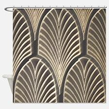 Art Deco Fan Geometric Shower Curtain
