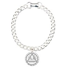 AA symbol Charm Bracelet, One Charm