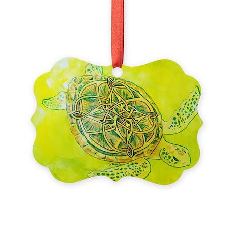 Celtic Knotwork Turtle Ornament