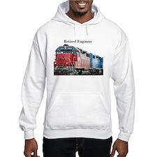 Train Retired Engineer Hoodie