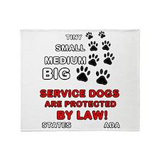 Cute Service dog Throw Blanket