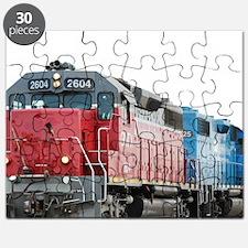 Train Blanket Blank Puzzle