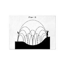 Golf Par 5 (Light) 5'x7'Area Rug