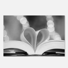 Book Heart Postcards (Package of 8)