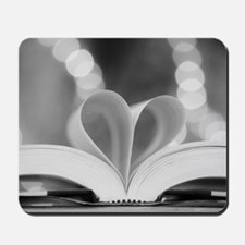 Book Heart Mousepad
