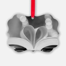 Book Heart Ornament